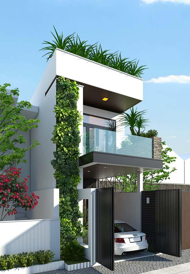 Teto verde completa a proposta do jardim vertical da fachada