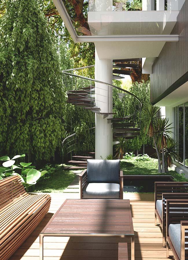 O verde é prioridade nessa casa