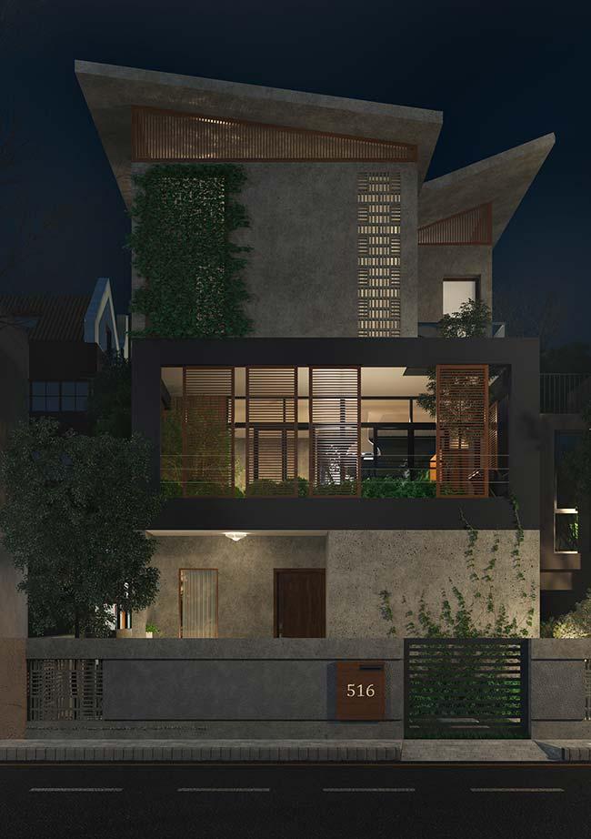 Fachada verde, bonita e de fácil com jardim vertical