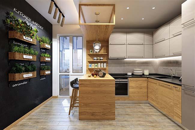 Tenha ervas e temperos sempre à mão com um jardim vertical na cozinha