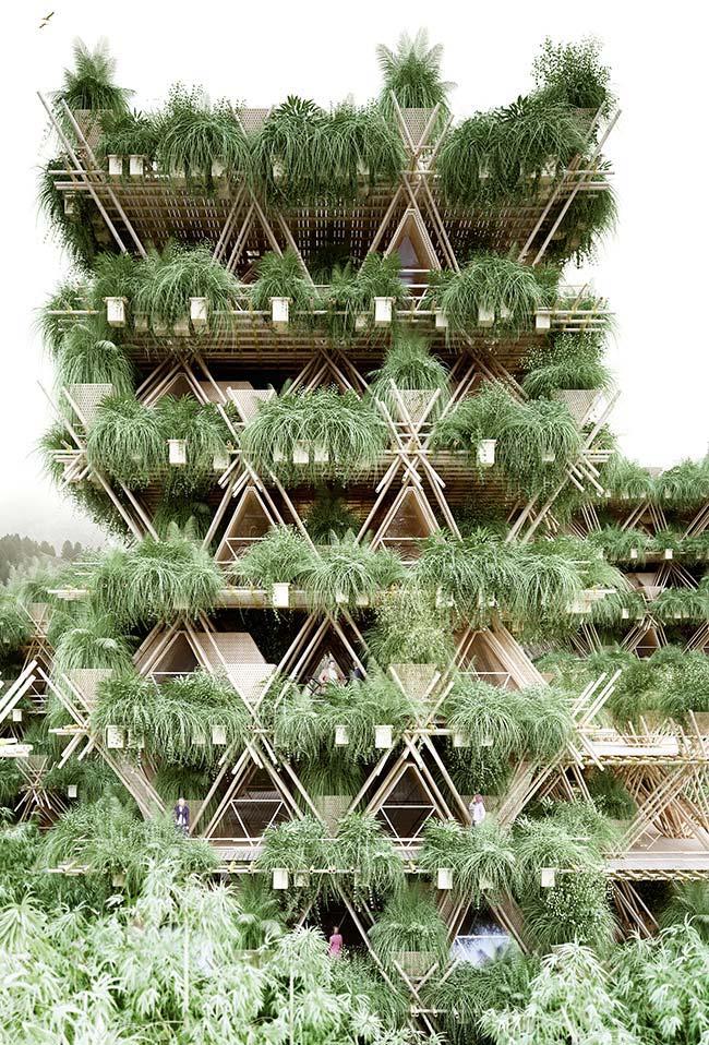 """""""Vegitecture"""", junção das palavras vegetação e arquitetura"""