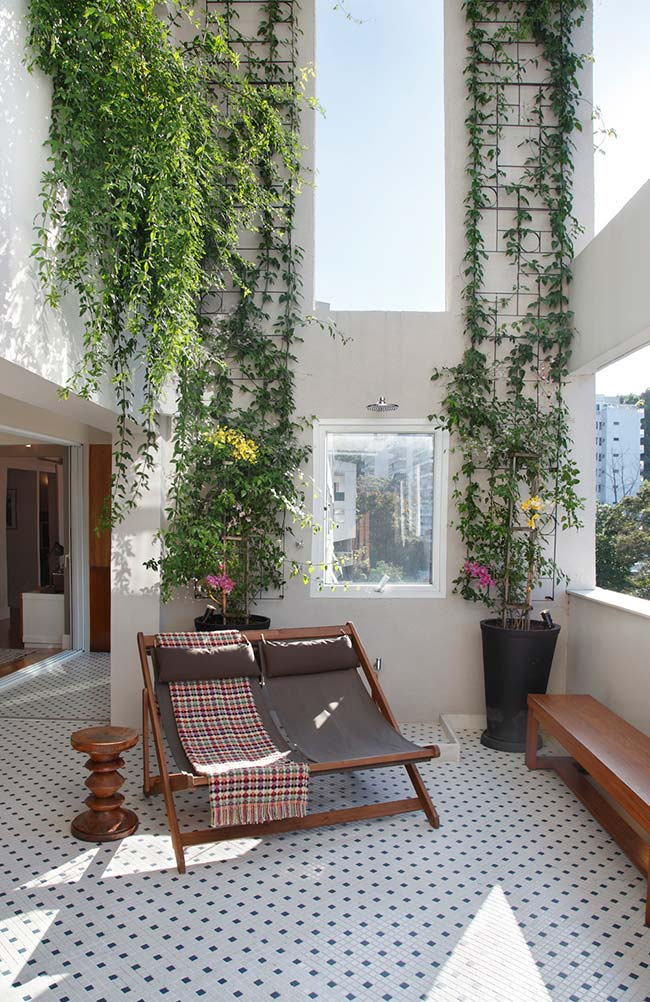 Jardim vertical de hera inglesa