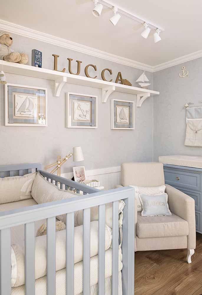 Quarto de Beb u00ea Menino Veja 65 Ideias, Fotos e Projetos -> Decoração De Quarto De Bebê Ovelhinhas