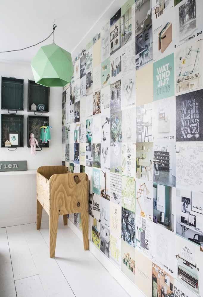 Colagens na parede: faça você mesmo e substitua o papel de parede