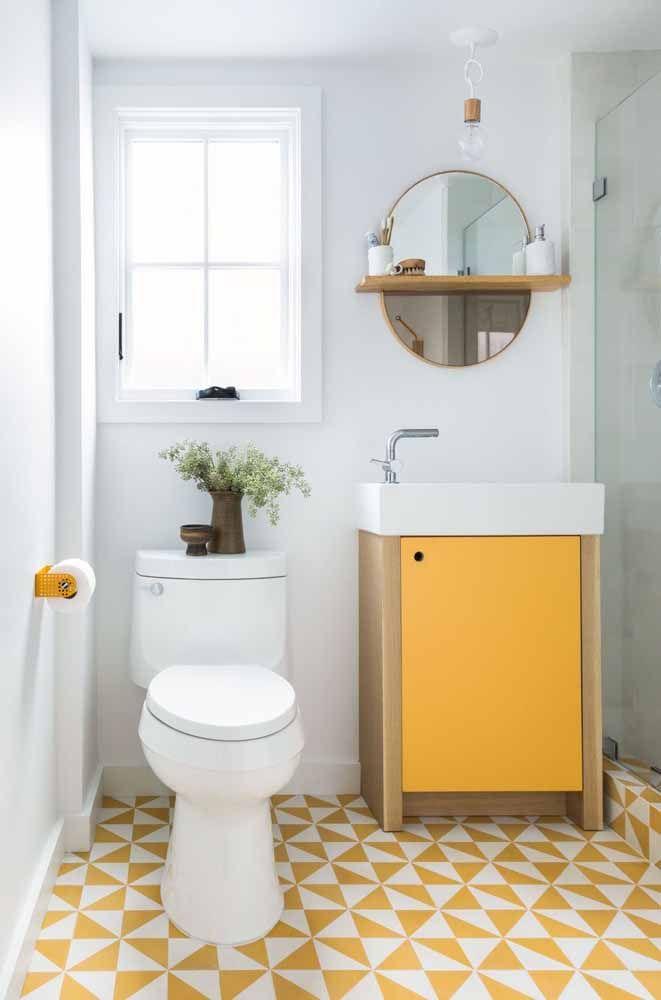 Mas se preferir algo mais colorido, o amarelo pode ser uma boa solução