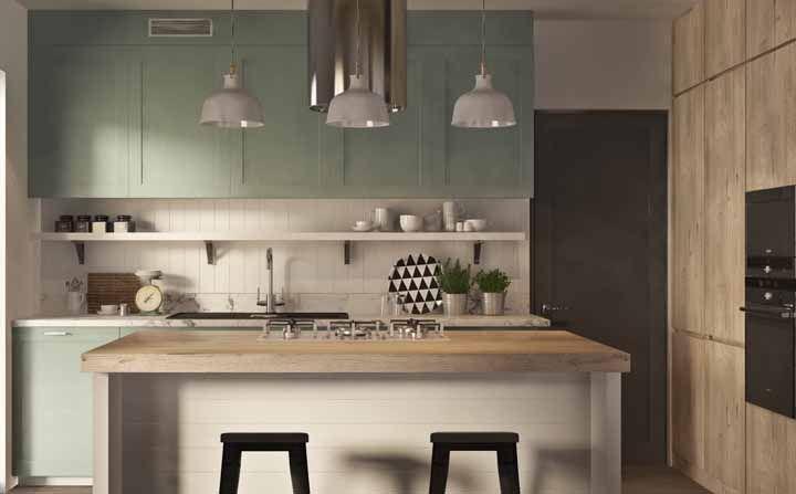 Parece cozinha de vó, mas com um leve toque de modernidade
