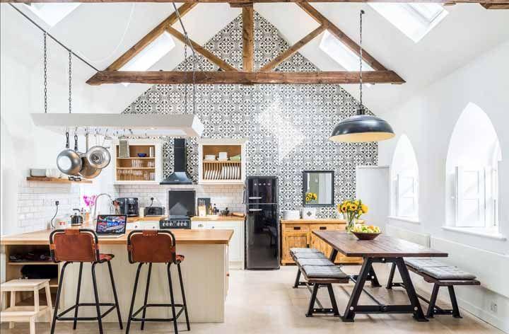 Clean, rústico e vintage: um arraso essa cozinha!