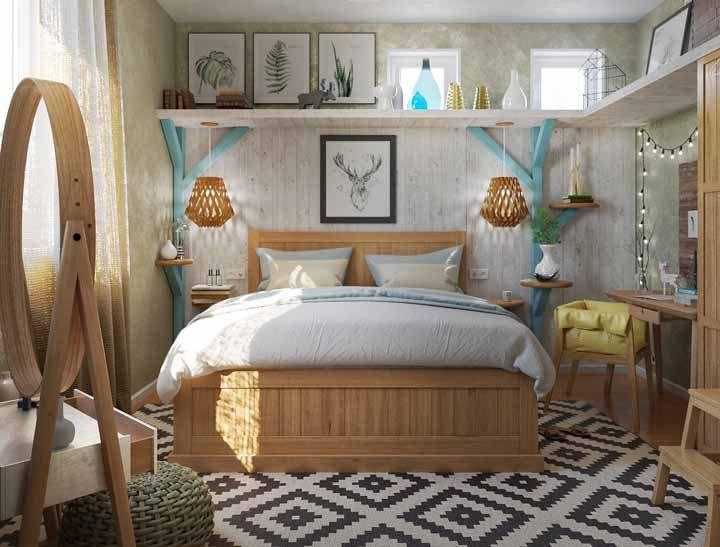 Você também consegue se sentir acolhido nesse quarto? É isso que a decoração vintage faz!