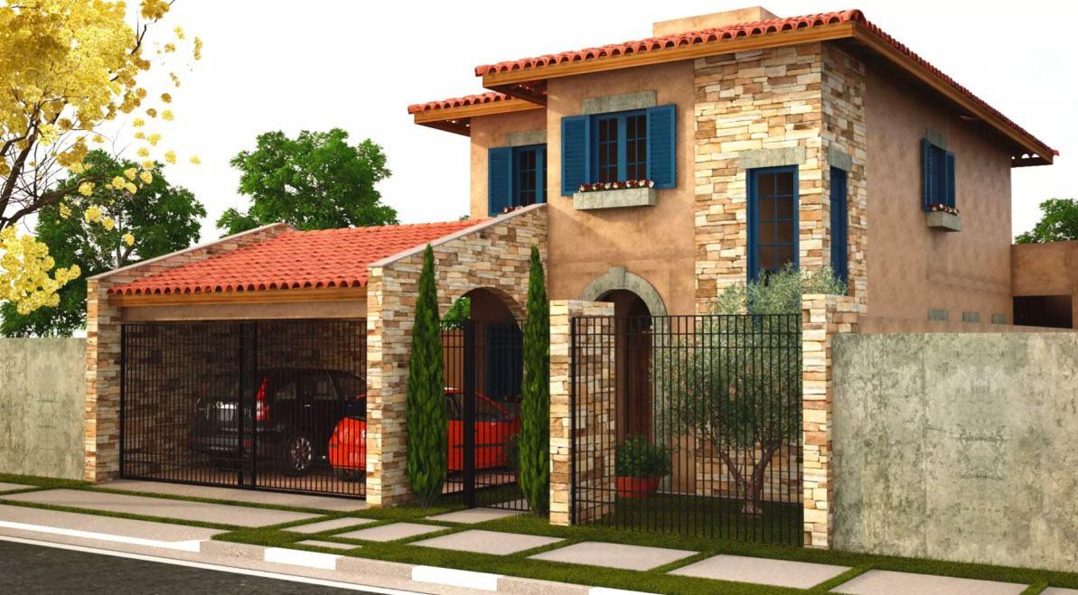 Casas mediterr neas 60 modelos e projetos com o estilo - Casas de estilo italiano ...
