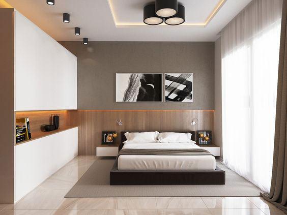 Nichos para quarto de casal 60 modelos e ideias incr veis for Chambre luxueuse