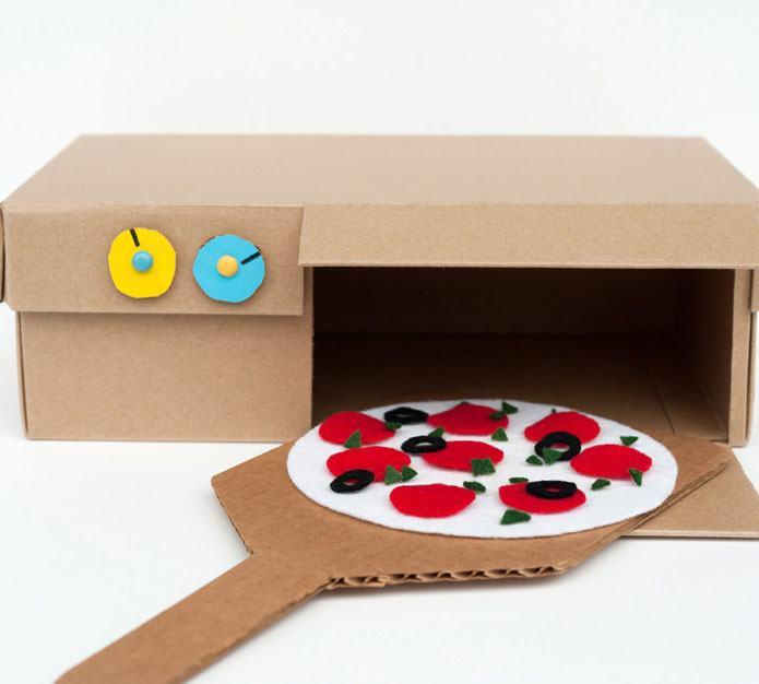 Uma adaptação simples para fazer como brinquedo: um forno a lenha de pizza.
