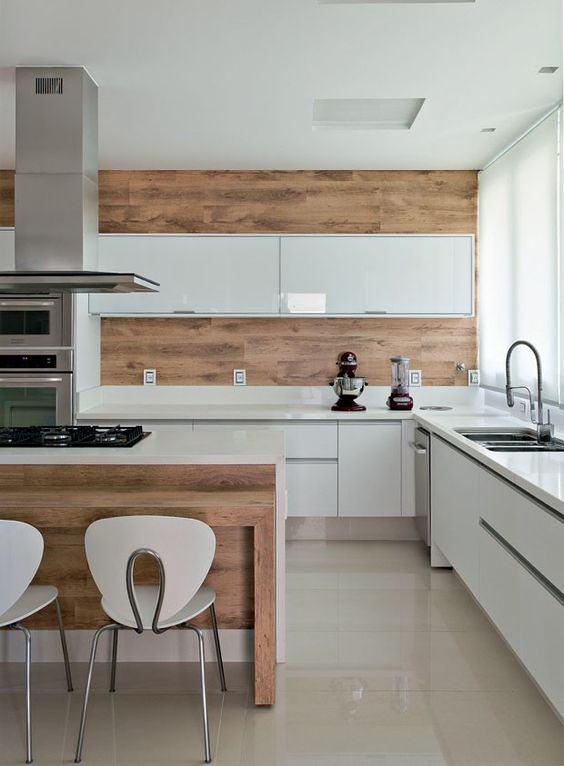 A combinação dos tons realça ainda mais o visual da cozinha