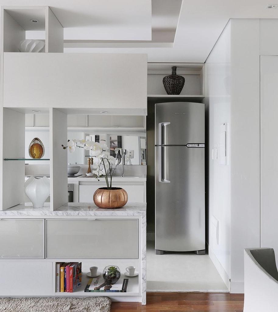 Cozinhas integradas pedem um visual mais aberto sem muita informação