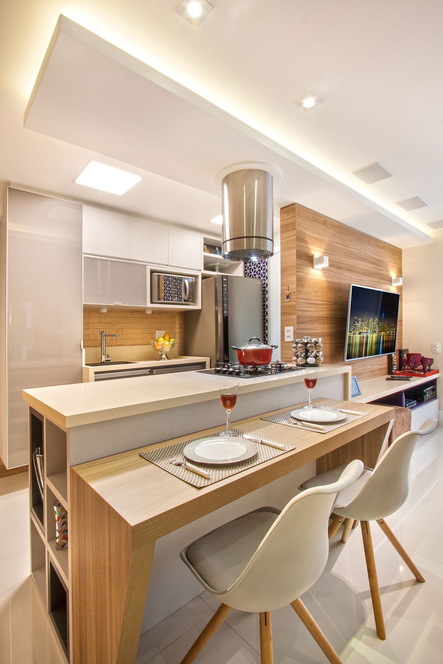 Cozinha clean 60 modelos e projetos incr veis - Bancadas de cocina ...