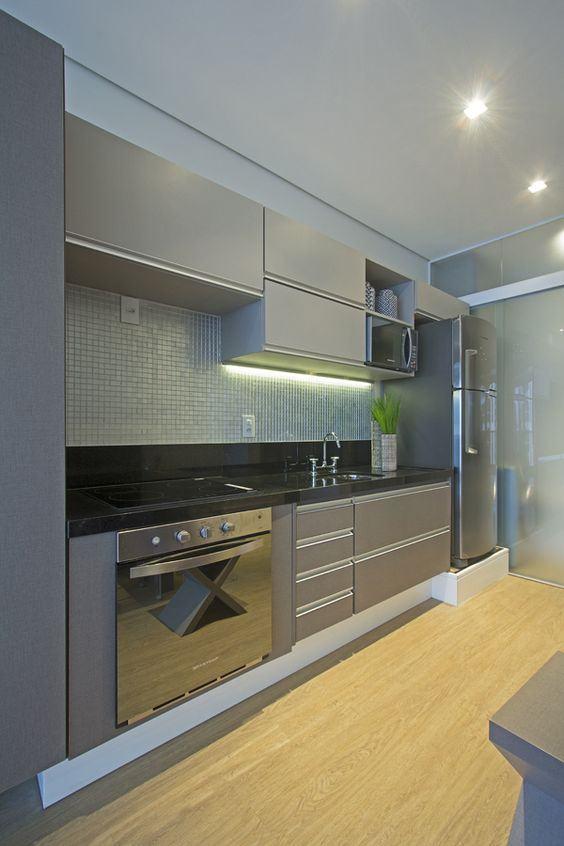 Cozinhas cinzas podem ser consideradas clean e moderna