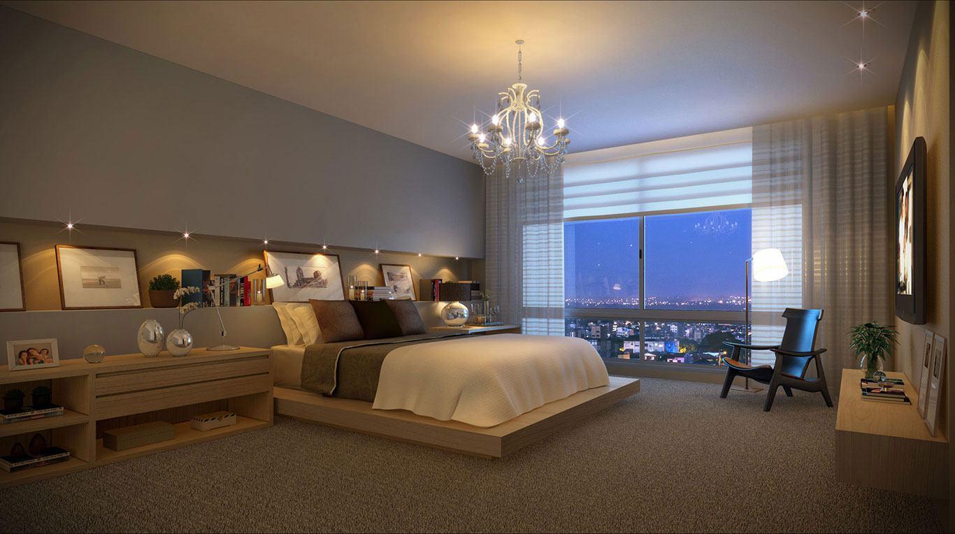 Mesmo com o estilo moderno predominando o quarto, a peça equilibrou o visual levando mais beleza na composição final!
