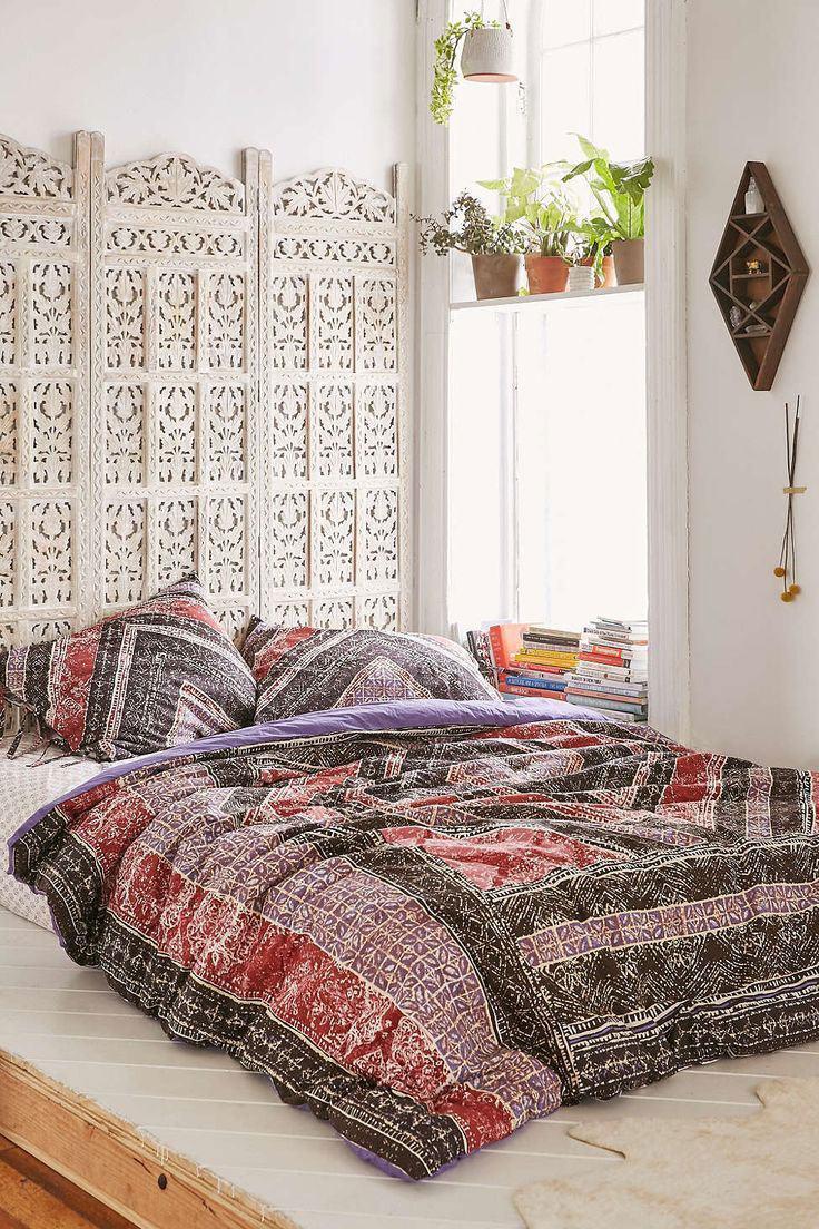 Decoracao Sala Hippie ~ Imagem 20 – Quarto com decoração simples e estilo hippie