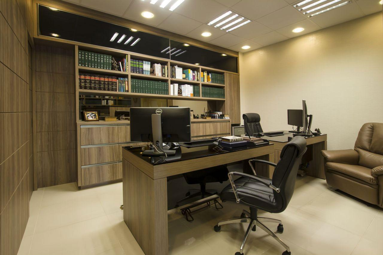 Decora o de escrit rio de advocacia 60 projetos e fotos - Modelos de escritorios ...