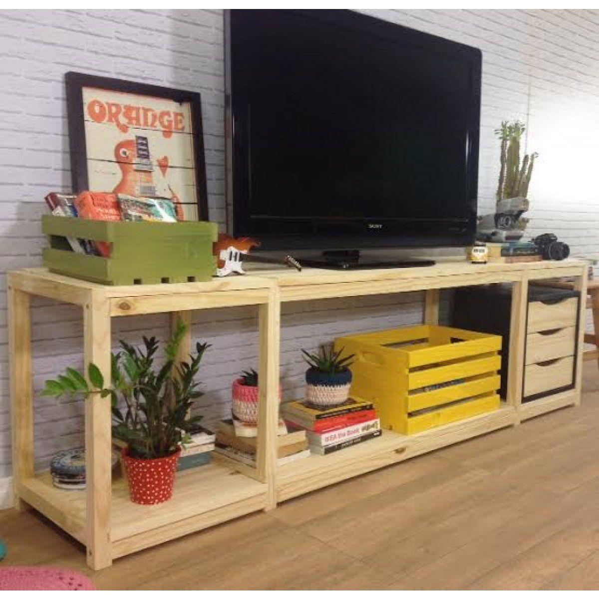 Rack De Pallet 60 Modelos E Ideias Criativas Confira  -> Sala De Tv E Som
