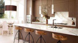 Cozinha marrom: 60 projetos incríveis e fotos para se inspirar