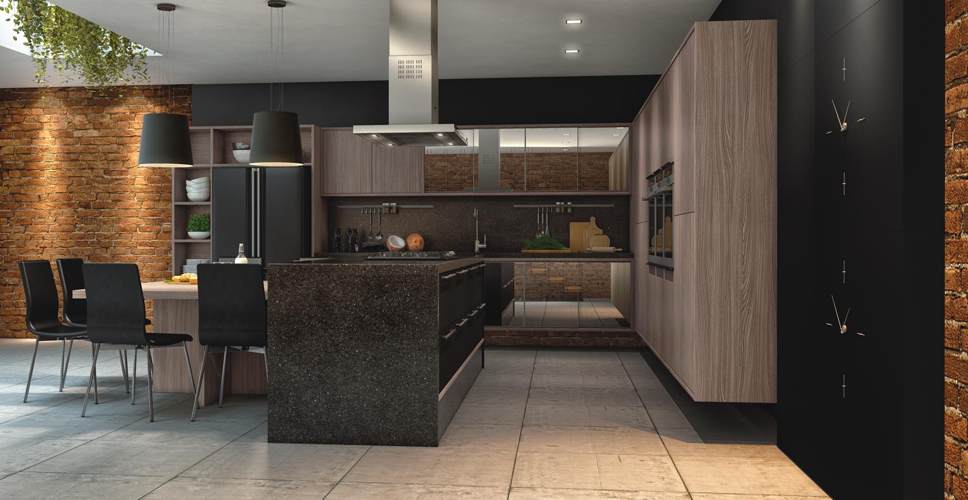 Deixe sua cozinha aberta para promover integração com outros ambientes.
