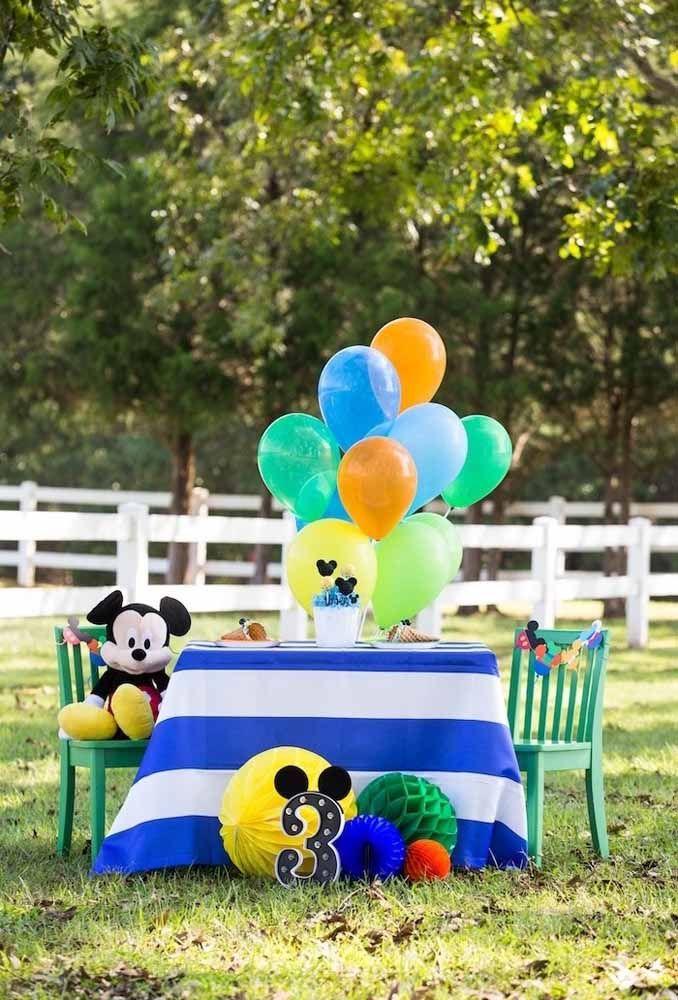 Festa do Mickey ao ar livre