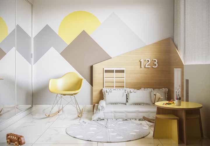 Desenhos geométricos na pintura para um clima mais lúdico no quarto