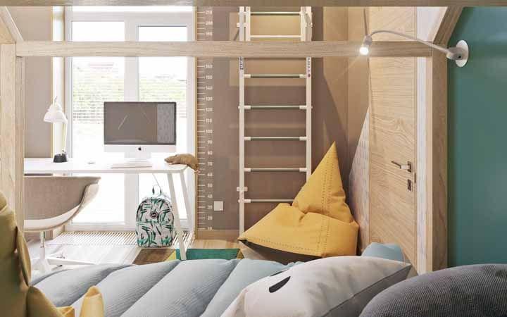 Almofadas confortáveis na decoração do quarto