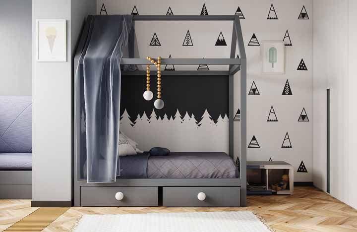 Preto e branco na decoração do quarto