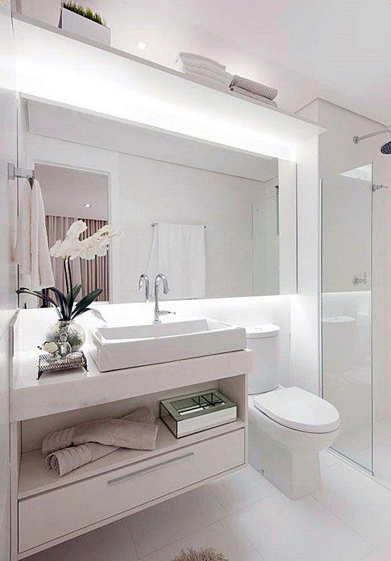Gabinete para banheiro 65 modelos e como escolher - Fotos lavabos modernos ...