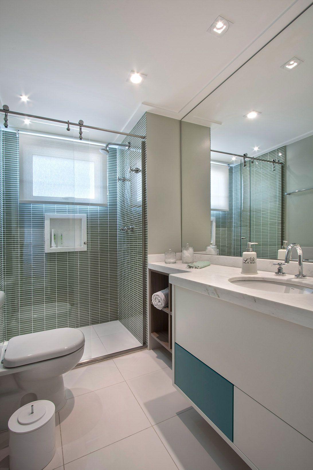 Gabinete para Banheiro 65 Modelos e Como Escolher -> Armario De Banheiro Azul