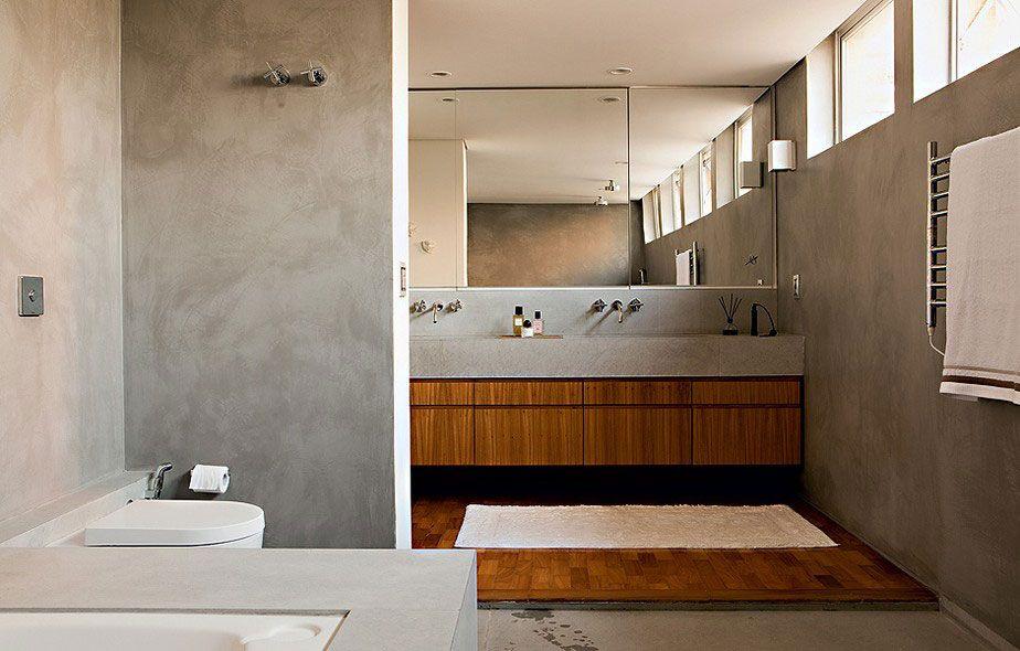 Gabinete para Banheiro 65 Modelos e Como Escolher -> Banheiro Planejado Cinza