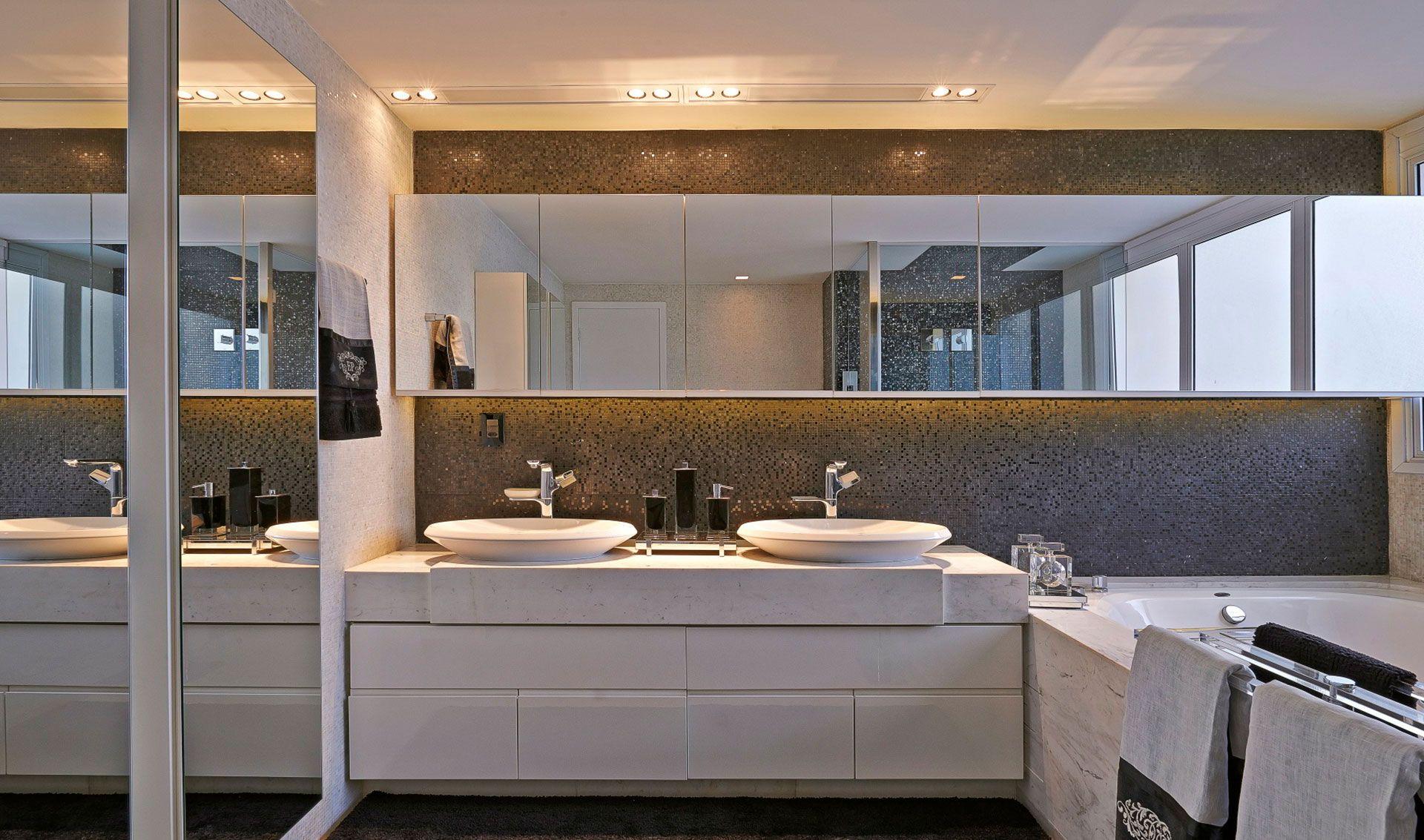 Gabinete para Banheiro 65 Modelos e Como Escolher -> Cuba Para Banheiro Dupla