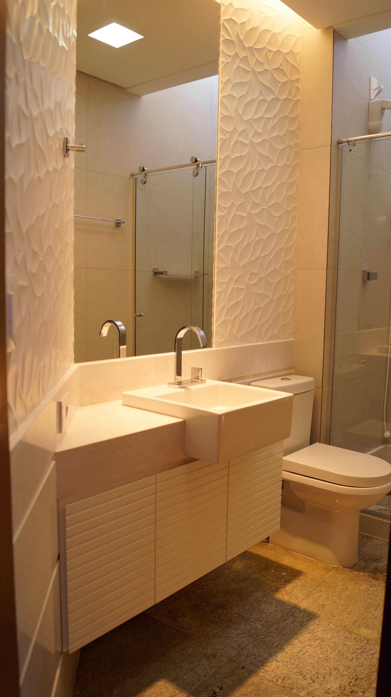 Gabinete para Banheiro 65 Modelos e Como Escolher -> Decoracao De Banheiro Pequeno Bege