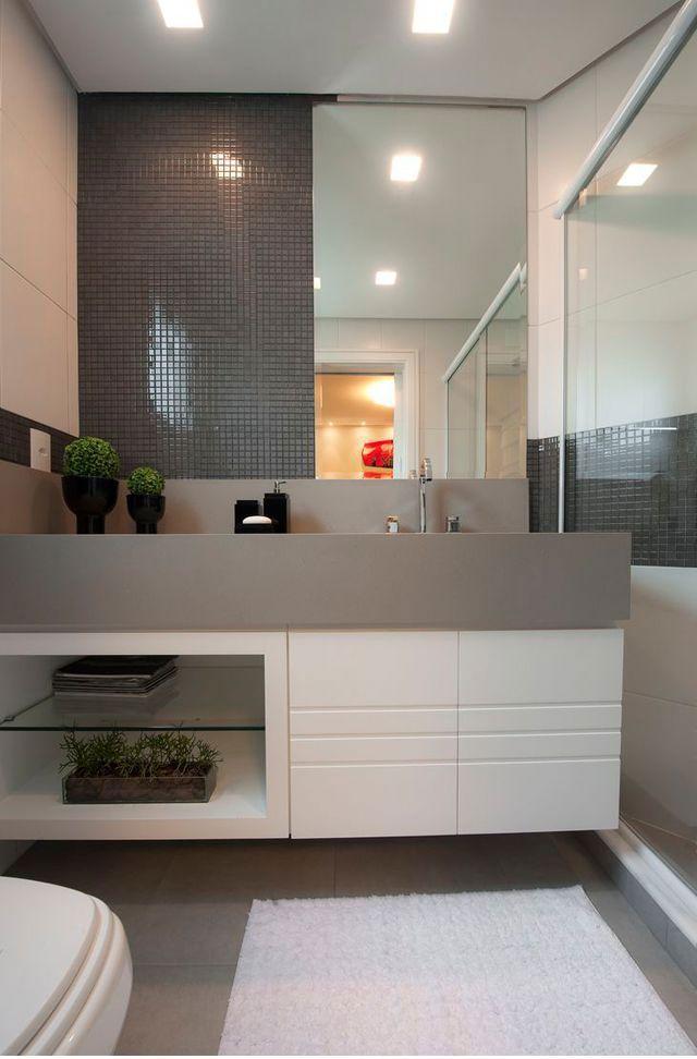 Gabinete para Banheiro 65 Modelos e Como Escolher -> Gabinete Com Cuba Para Banheiro Barato