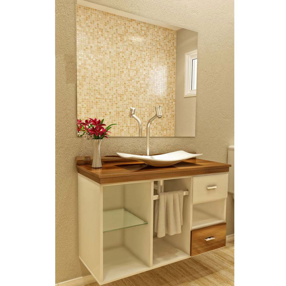 Gabinete para banheiro 65 modelos e como escolher for Armario 80 cm