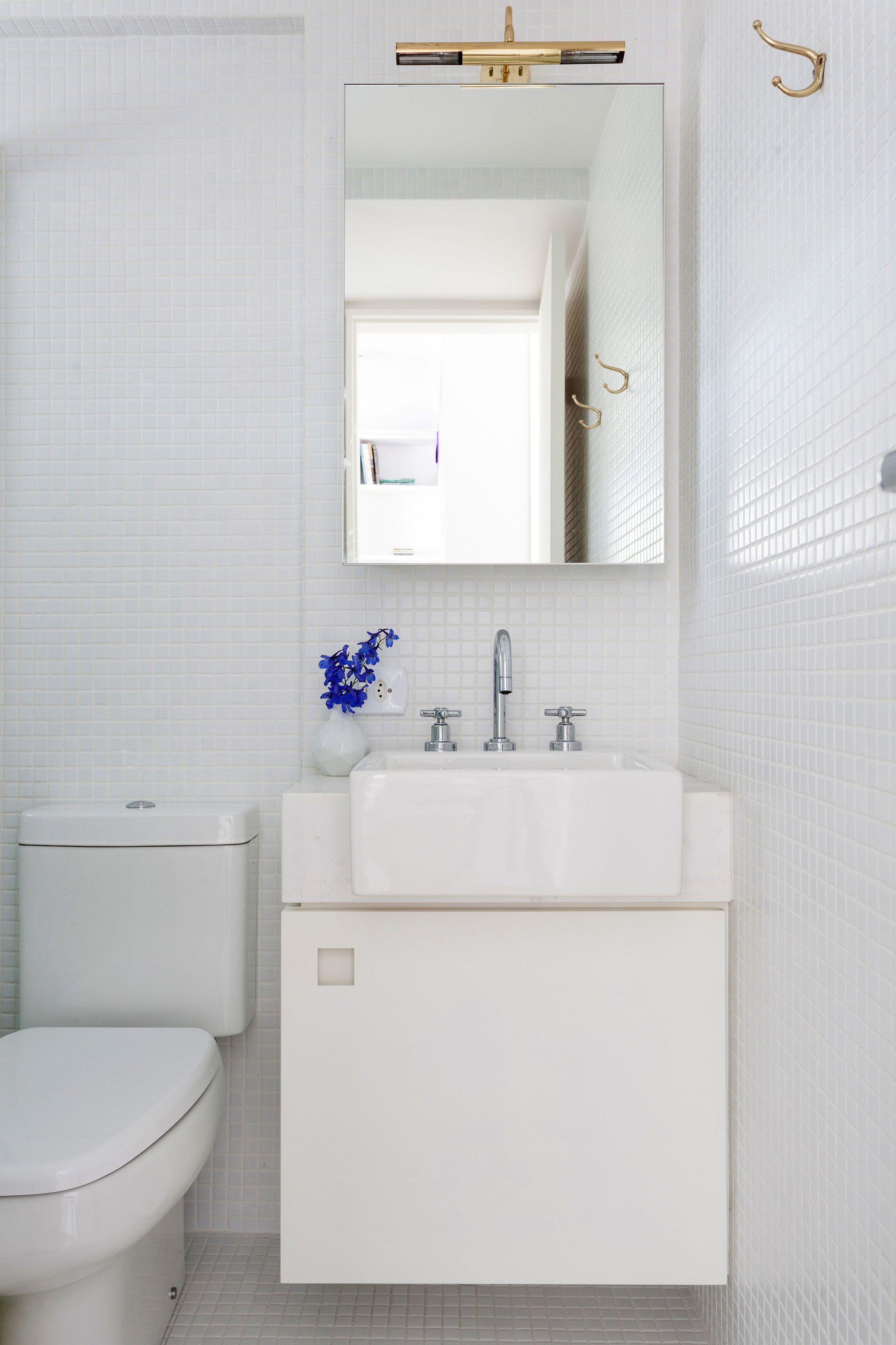 Gabinete para Banheiro 65 Modelos e Como Escolher -> Pia De Banheiro Com Armarinho
