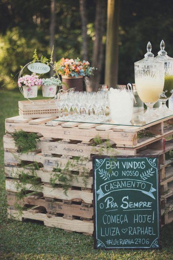 Lousa na decoração de casamento simples