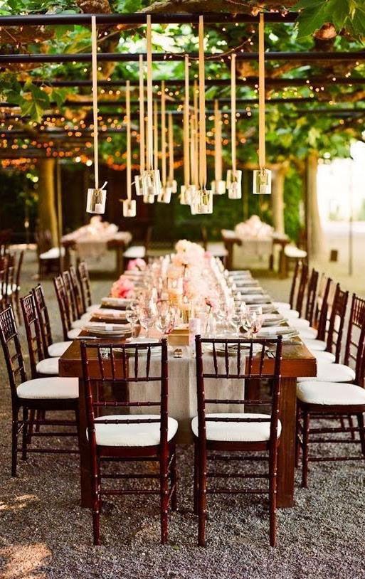 Vinícola para decoração de casamento simples