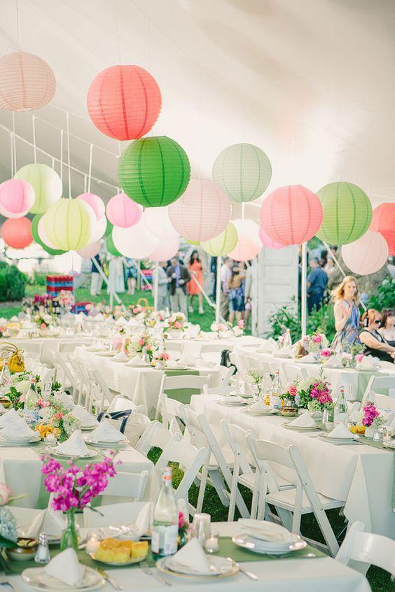 Cores na decoração de casamento