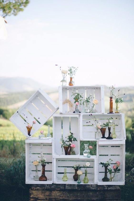 Casamento simples: pinte os caixotes de feira