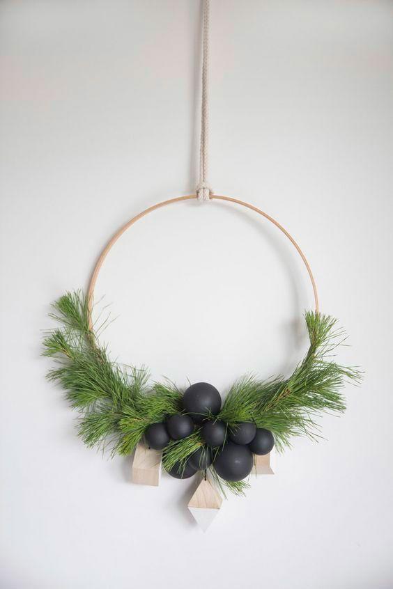 Guirlanda com estilo minimalista: uma bela criação!