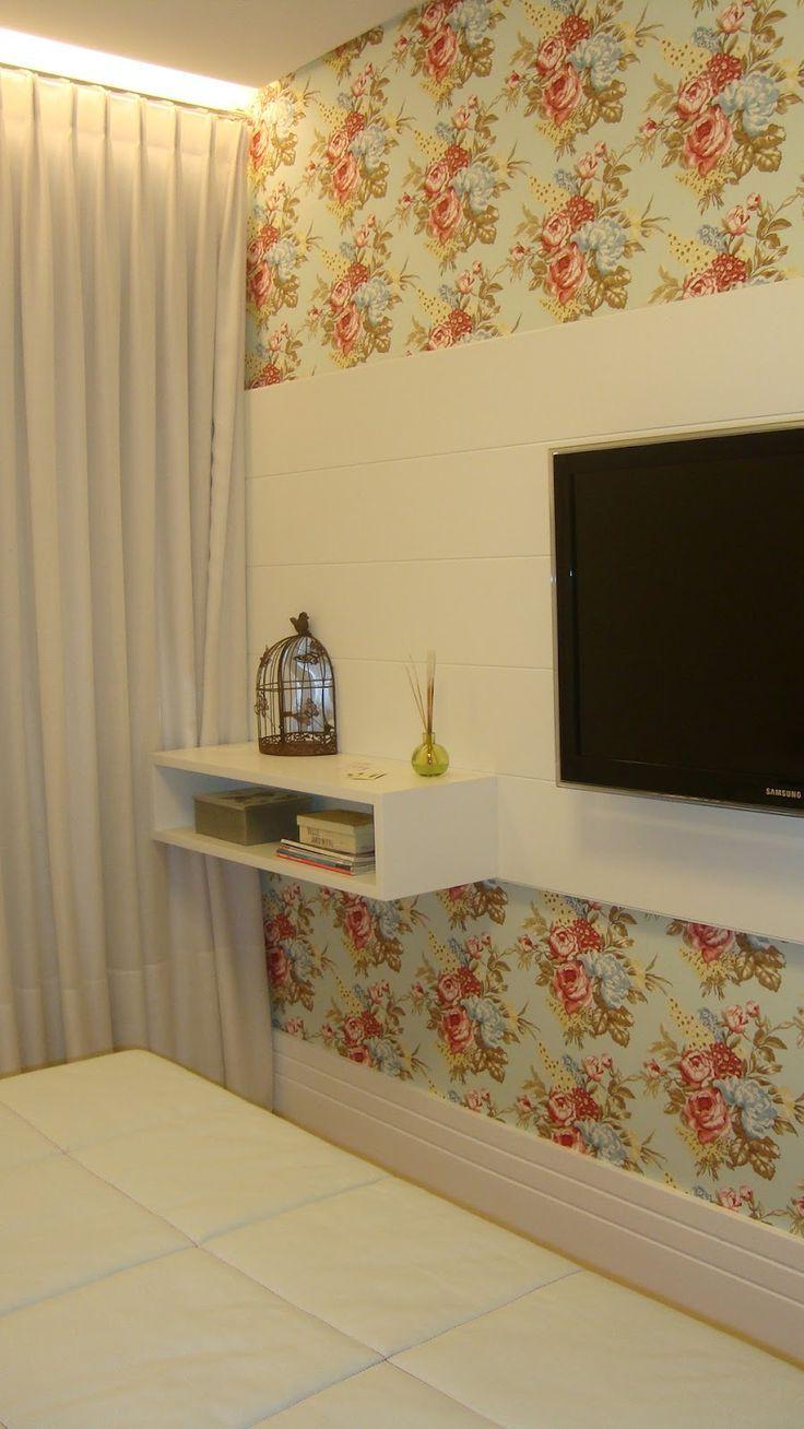 Tecido para parede: 60 inspira??es de ambientes decorados com tecido