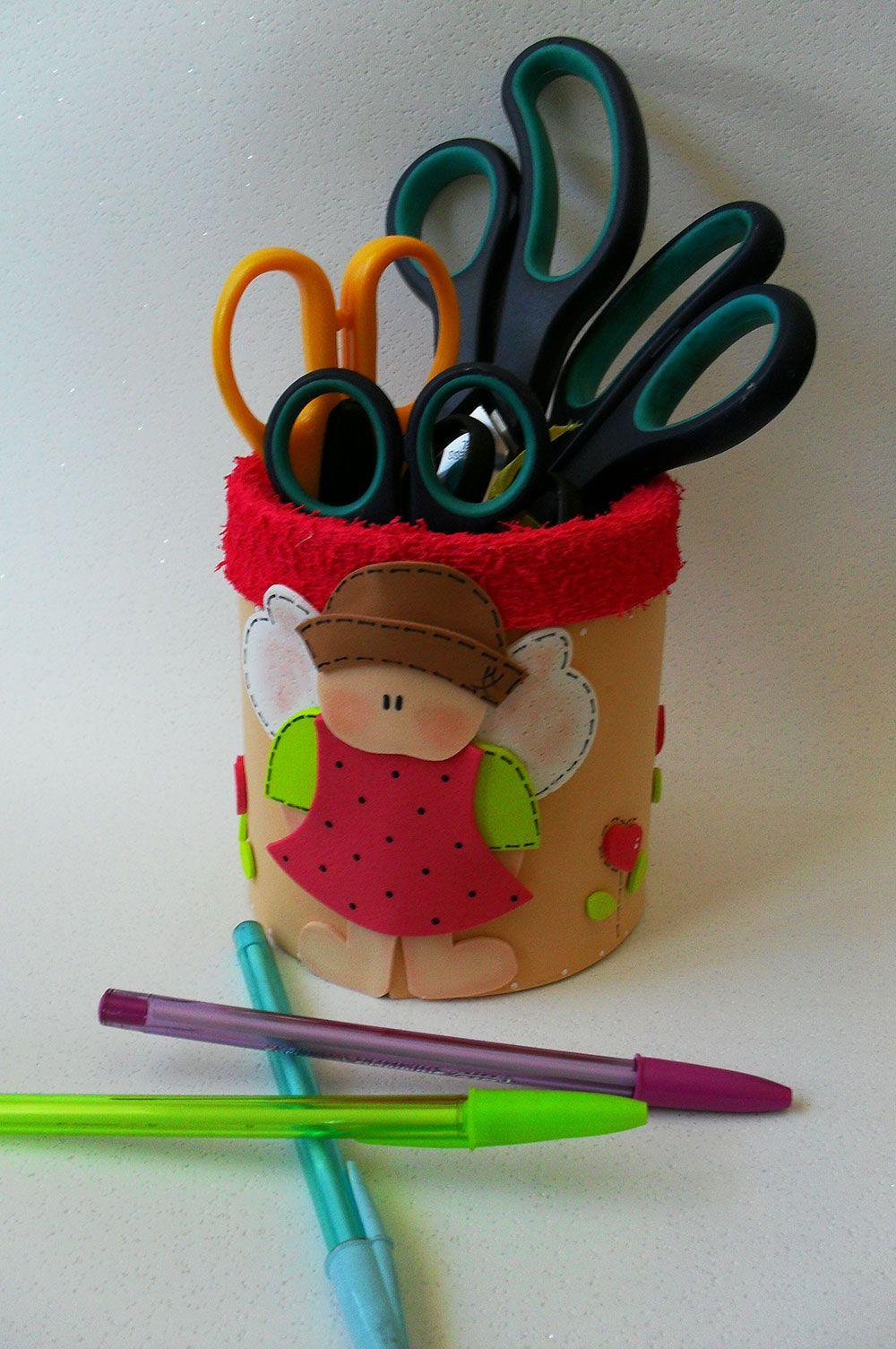 Porta-lápis com EVA.