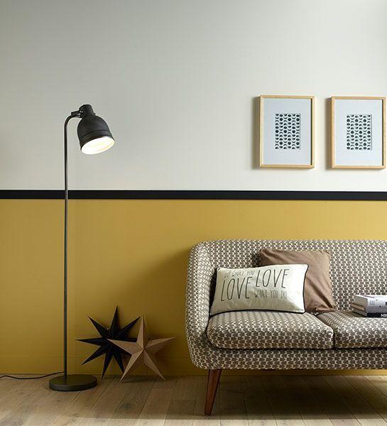 Utilize cores diferentes na parede e destaque o rodameio.