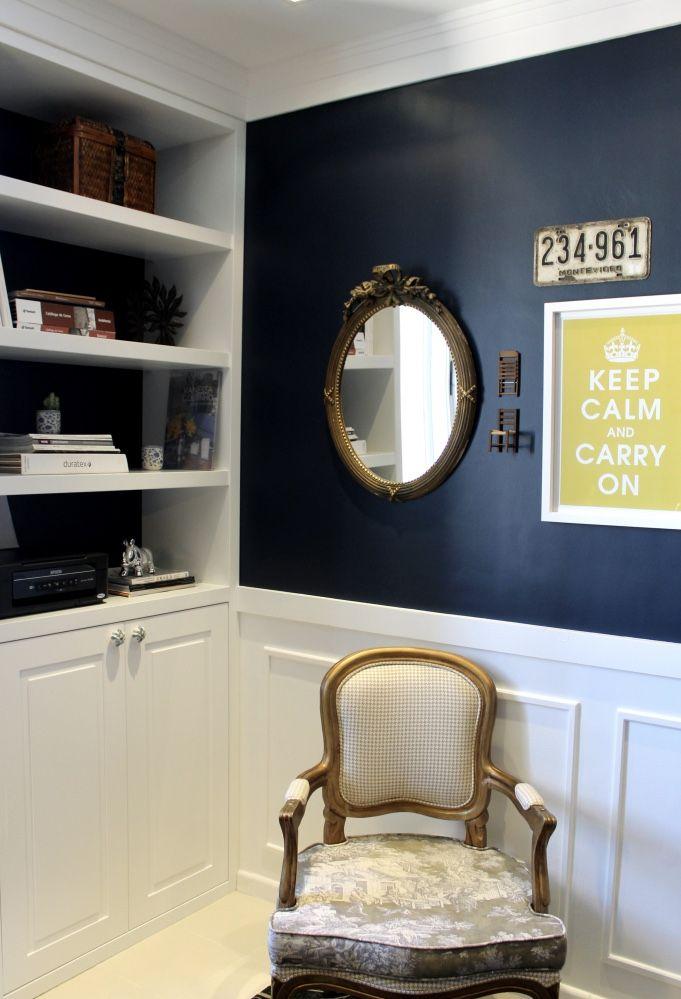 O rodameio é ideal para dar acabamento na parede dividida.