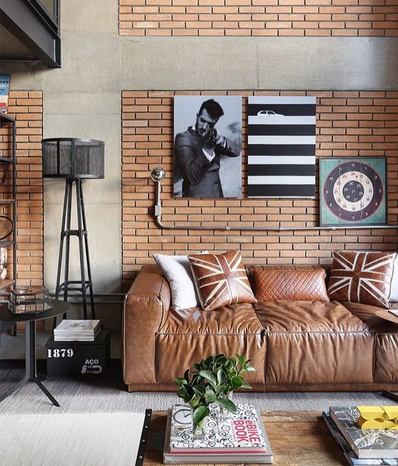 Sofá de Couro: 70 Modelos Incríveis na Decoração