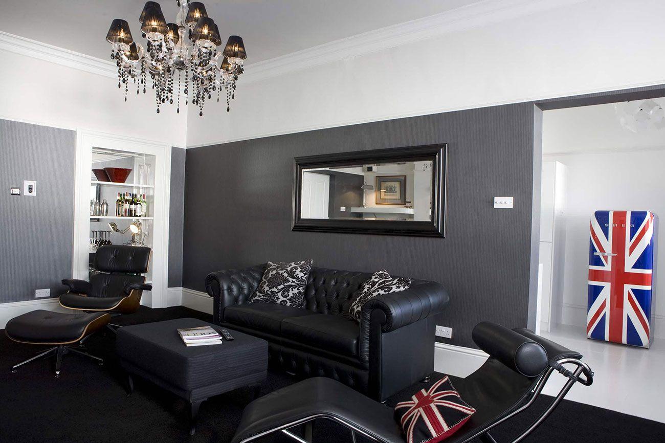 Sof De Couro 70 Modelos Incr Veis Na Decora O -> Casa Sala De Tv Sala De Jantar A Fazenda