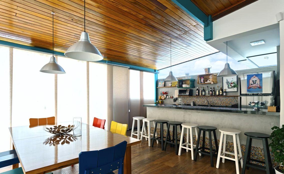 Pinte a estrutura com uma outra cor para realçar o visual da área gourmet