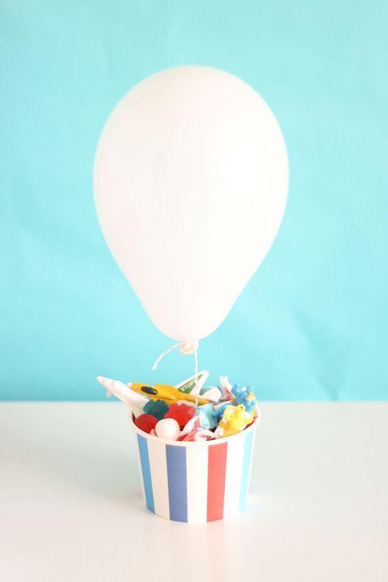 Dê um upgrade nos snacks com balões de hélio!